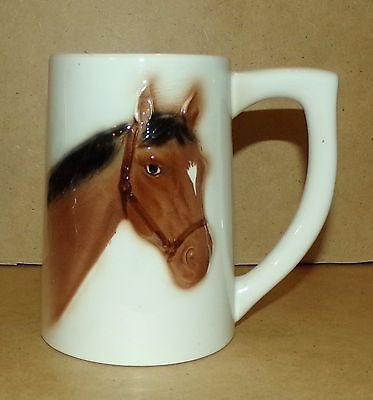 Lefton's #1835 Japan Horse Large Mug marked Excellent Condition