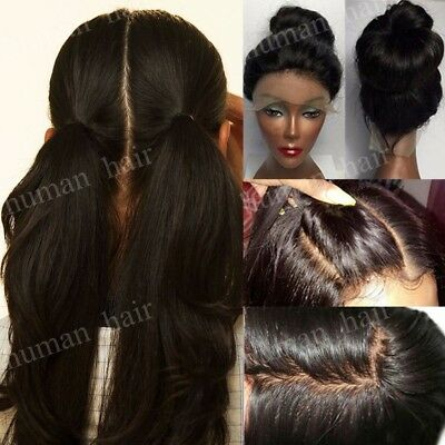 100% INDIAN HUMAN Hair Lace Front Wigs Glueless