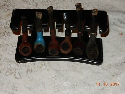 Vintage Lot Of 6 Estate Tobacco Pipes Pipe