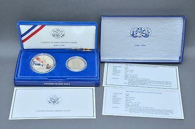 1886-1986 - S United States Liberty Coin - Ellis Island Silver Dollar Proof Set