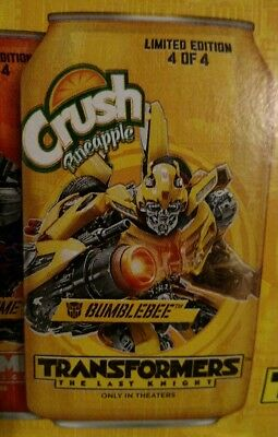 Full Crush Pineapple Bumblebee Transformers Soda Pop 12oz Can LE Yellow Camaro