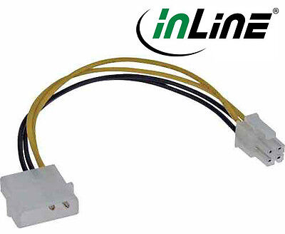 InLine Power Adapter internal, 4-pin Power supply to 4-Pin Motherboard, 20cm