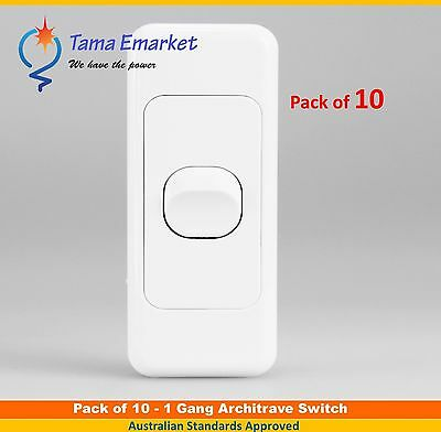 10 X 1 Gang 2 Way Architrave Switch - Single Slim Electrical Light Switch