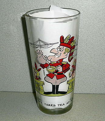 Arby's P.A.T. Ward Collector Series DUDLEY TAKES TEA AT SEA Interaction Glass EX