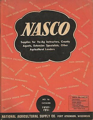 Vintage 1950 NASCO Farming Catalog * Agriculture Farm Supply Equipment *********