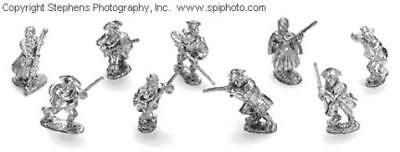 Old Glory French & Indian Wars 25mm Civilian Homestaders Provincials Pack MINT