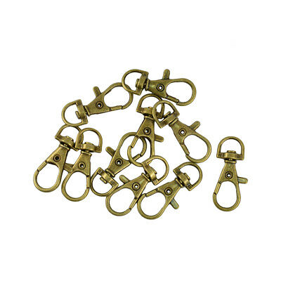 10pcs Bronze Swivel Lobster Clasps Trigger Clips Snap Hooks for Keychain Bag