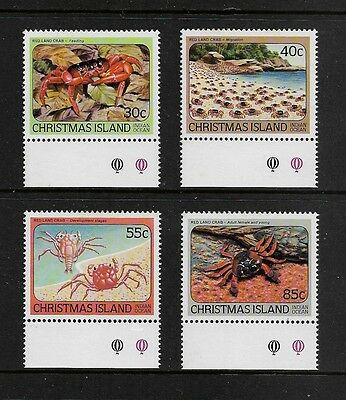 CHRISTMAS ISLAND - mint 1984 Red Crabs, No.2, set of 4, MNH MUH