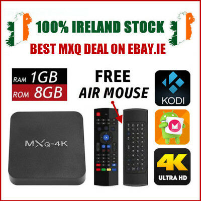 MXQ-4K Smart Android 6.0 WiFi TV/Media Box + FREE MX3 Air Mouse Keyboard Remote