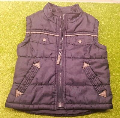 Baby Boy 18-24 Months John Lewis Warm Insulated Navy Gilet For Autumn/Winter