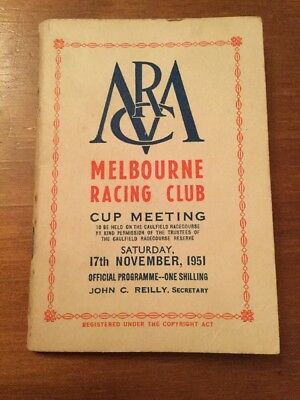 1951 Race Book Williamstown Cup (Sandown Cup)