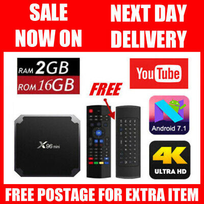 X96 Mini 2GB/16GB Android 7.1 TV/Media Box + FREE MX3 Air Mouse Keyboard Remote