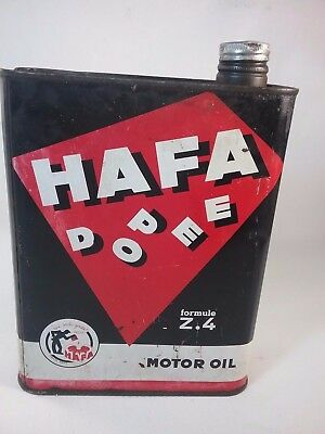 Ancien bidon HAFA dopee motor oil voiture ancienne auto french antique car