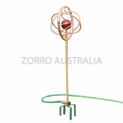 NEW ZORRO Vortex Spinning Red Water Sprinkler with 12mm & 19mm Adaptor