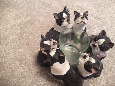 boston terrier Candle Holder