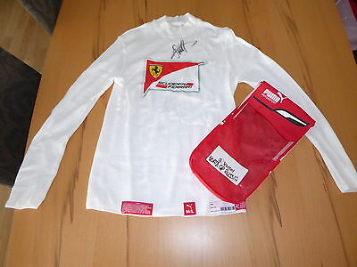 Sebastian Vettel Driver NOMEX Fireproof Top PERSONAL USED & SIGNED BY VETTEL RAR