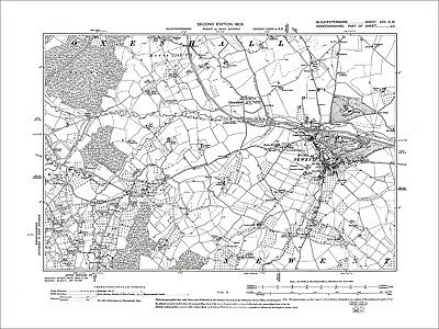 Newent, Old Map Gloucestershire 1903: 17SW