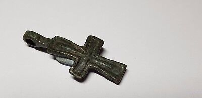 BYZANTINE BRONZE CROSS 12th ,14en  Century AD