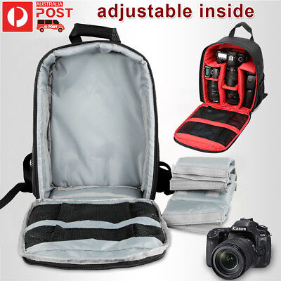 SLR DSLR Lens Backpack Camera Bag Carry Case For Nikon Canon EOS Sony Olympus OZ