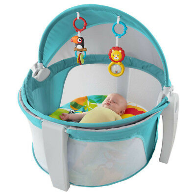 Fisher-Price On-The-Go Baby Dome Folds flat with handles