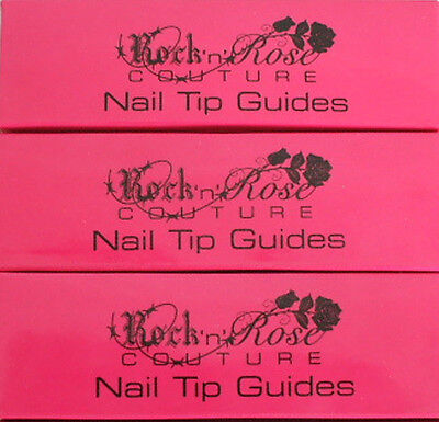 2 Rock N Rose Couture Nail Tip Guides For French Manicure Pedicure New