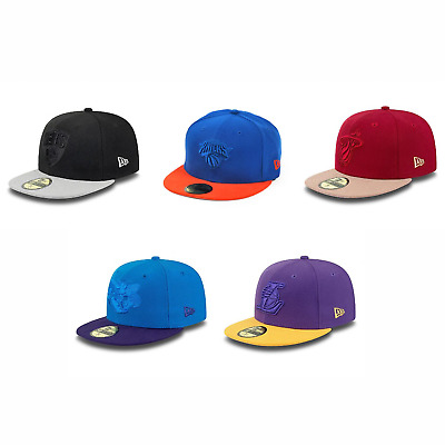 New Era Fitted 'Poptonal' 59FIFTY NBA Cap - Nets, Hornets, Lakers, Heat, Knicks