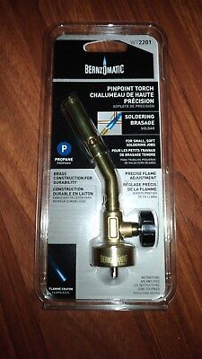 BernzOmatic WT2201 Propane Pinpoint Torch Head Brass Pencil Flame