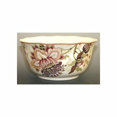 222 FIFTH Gabrielle Cream Cereal Soup Bowl New Brown Floral ...