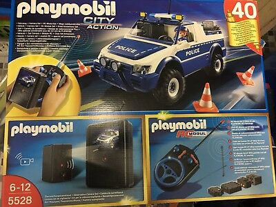 playmobil 5528 ferngesteuertes auto polizeiauto neu eur. Black Bedroom Furniture Sets. Home Design Ideas