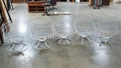Incredible 5 Vintage Homecrest Wire Metal Mid Century Modern Chairs Creativecarmelina Interior Chair Design Creativecarmelinacom