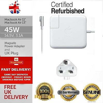 " Genuine Refurbished Apple 45W Macbook Air 11 13"" MagSafe 1 Charger A1304 A1237"