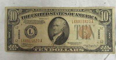 1934A $10 Hawaii Federal Reserve Note