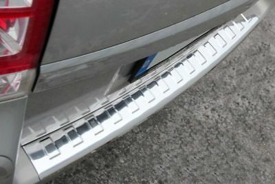 Vauxhall Opel Zafira B MK2 Chrome Rear Bumper Protector Cover Stainless Steel