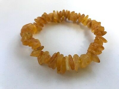 Raw unpolished untreated Natural healing genuine BALTIC Amber bracelet 11g. #698