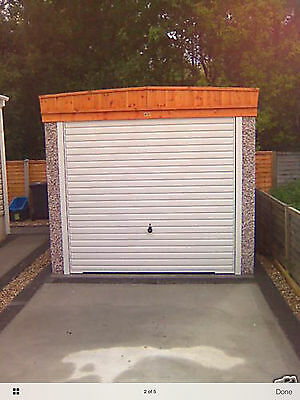 "16FT 3"" X 8FT 6""PENT ROOF  CONCRETE SECTIONAL GARAGE GARAGES Tel 01724710872"