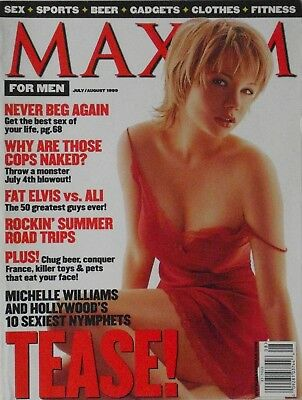 MICHELLE WILLIAMS July/August 1999 MAXIM Magazine #20 GEORGIANNA ROBERTSON