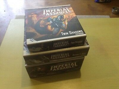 Star Wars Miniatures Imperial Assault Lot Starter Set And 2 Expansions.