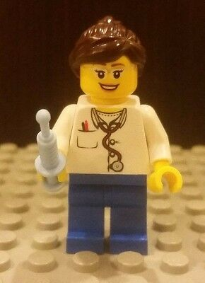 Female Nurse With Different Hair Colors And Faces Lot Lego X3 New EMT Doctor