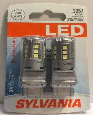 (New) SYLVANIA 3057 White LED Bulb, (Pack of 2 Bulbs)