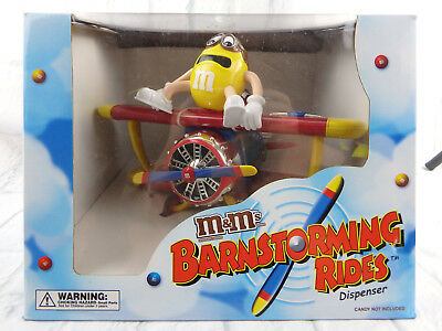 """Official M&M Brand Collectible """"Barnstorming Rides Candy Dispenser"""" NIB"""