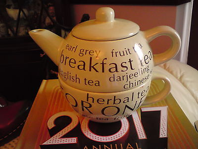 teas of the world  Tea For One: Teapot & Cup, VGC, FREE-MAILING..