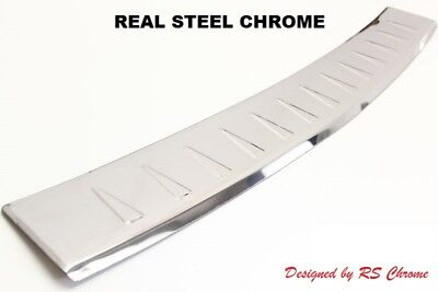Chrome Rear Bumper Protector Sill Cover Renault Trafic 2001-2014 Stainless Steel