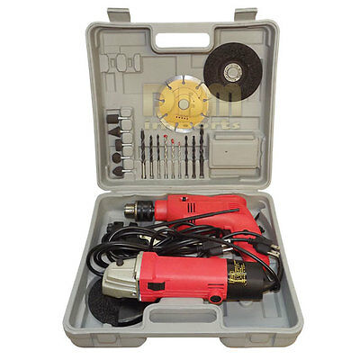 """4-1/2'' ANGLE GRINDER 1/2"""" HAMMER DRILL Cut Off Tool Tile Metal Cutting Blade"""