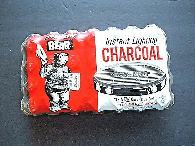 Vintage Smokey Bear Instant Lighting Charcoal, Sealed in Original Package  Rare!