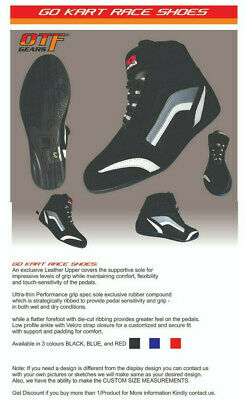 Kart Motorsport Racing Shoes Black Boots-Kids-Adult sizes - New Year Offer Price