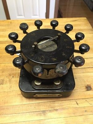 Antique VERY  RARE 1885  BANK PUNCH CO. CHECK PROTECTOR / CANCELLATION MACHINE