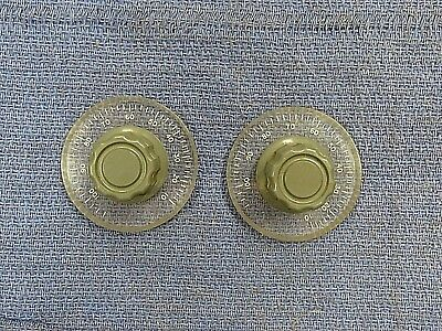 "M) Knob, dial knob, 10-100+, 1/4"" shaft hole, ( lot of 2 )"