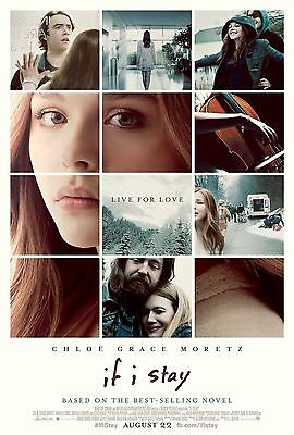 If I Stay Original D/S Rolled Movie Poster 27x40 NEW 2014 Chloe Grace  Moretz