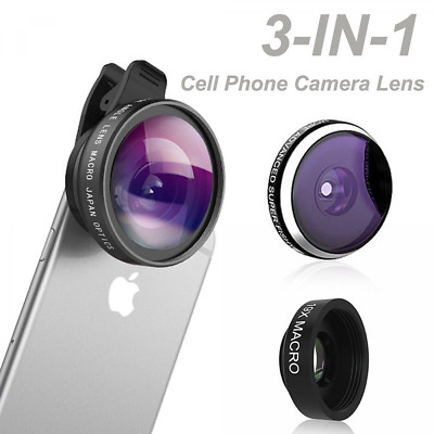 Lens Camera Phone Clip Zoom Universal Telescope Cell Kit Mobile Optical Iphone