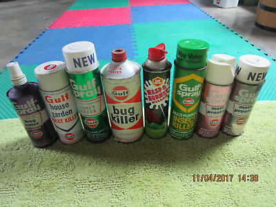 NICE GULF Gulfspray Insect Killer Can Lot of 8 different.